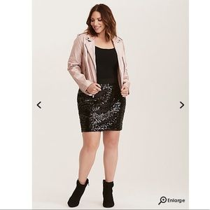 Torrid Black Sequin Stretch Mini Skirt